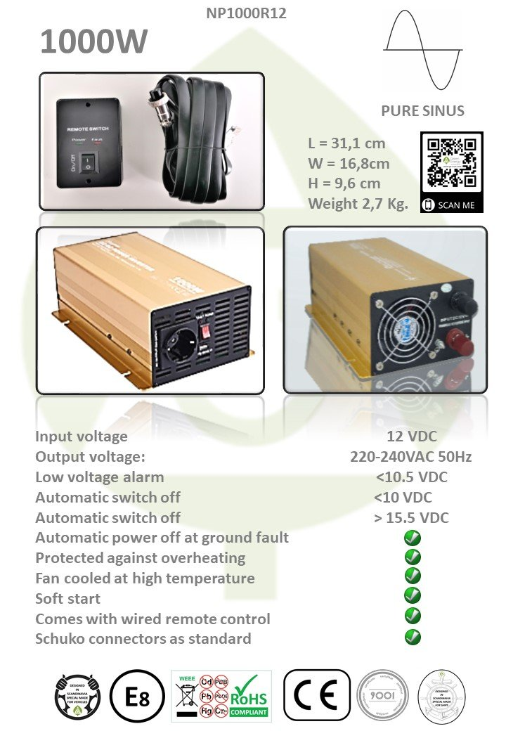mipv.pro - Inverter with 1000W - NP1000R12