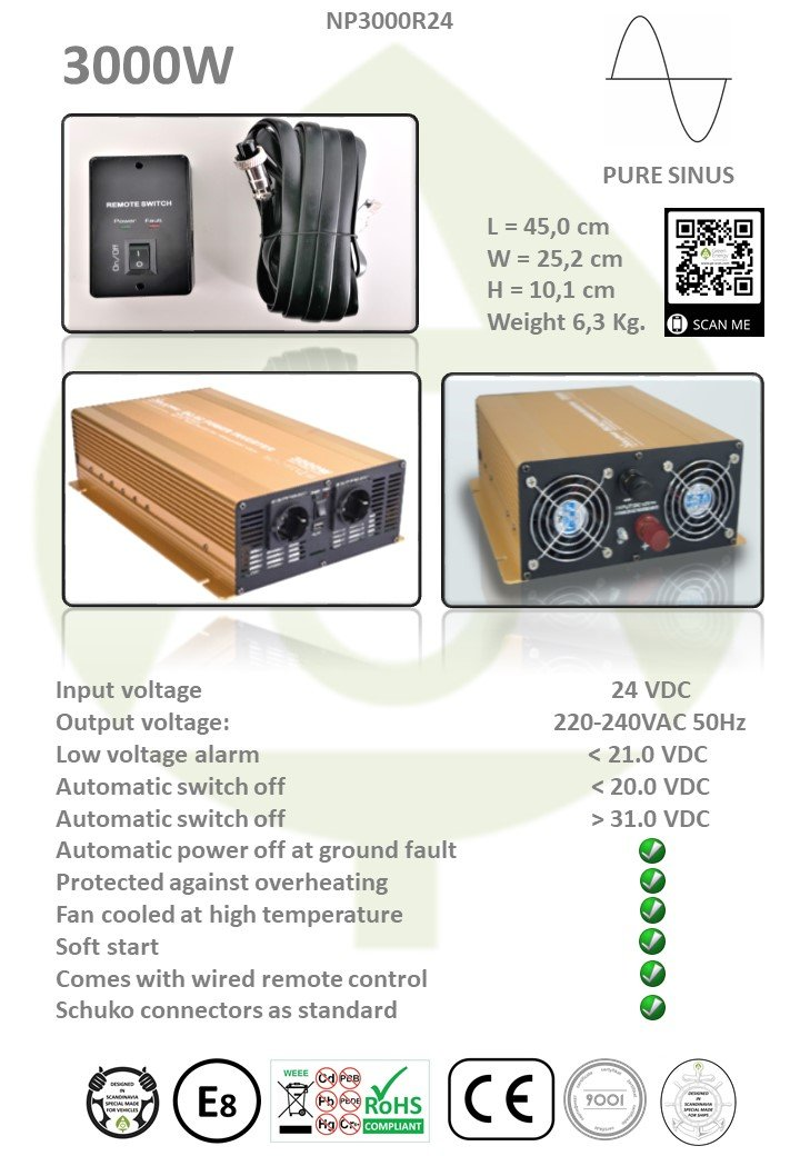 mipv.pro - inverter with 3000W - NP3000R12