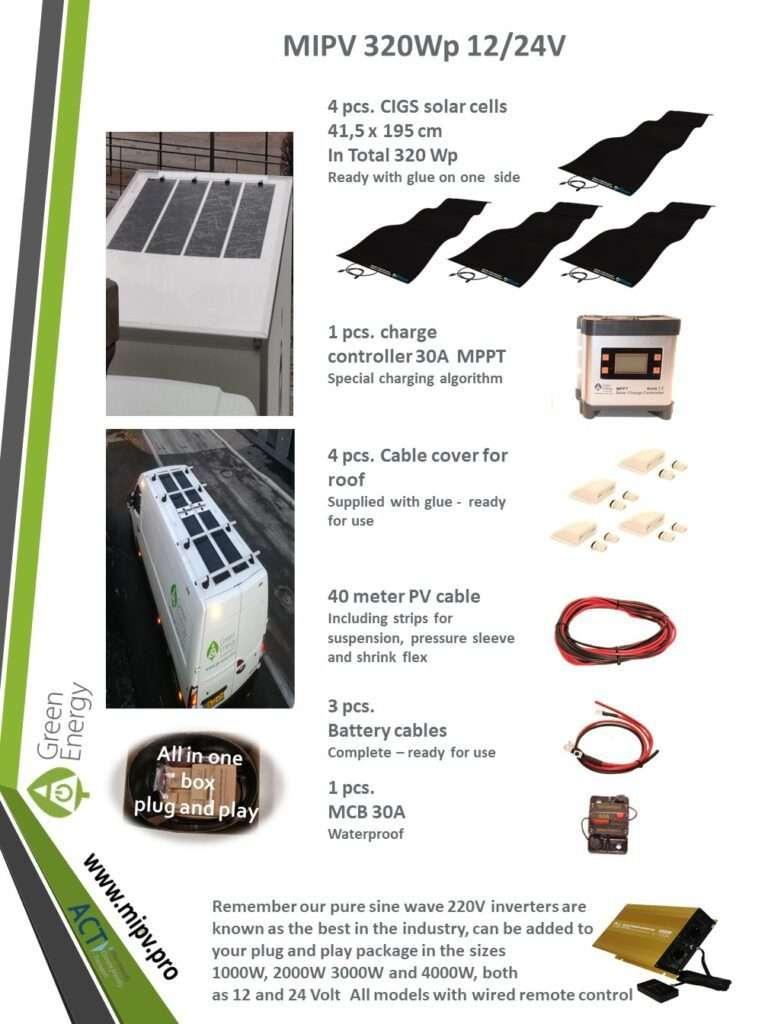 mipv sets - 320WP 12/24V