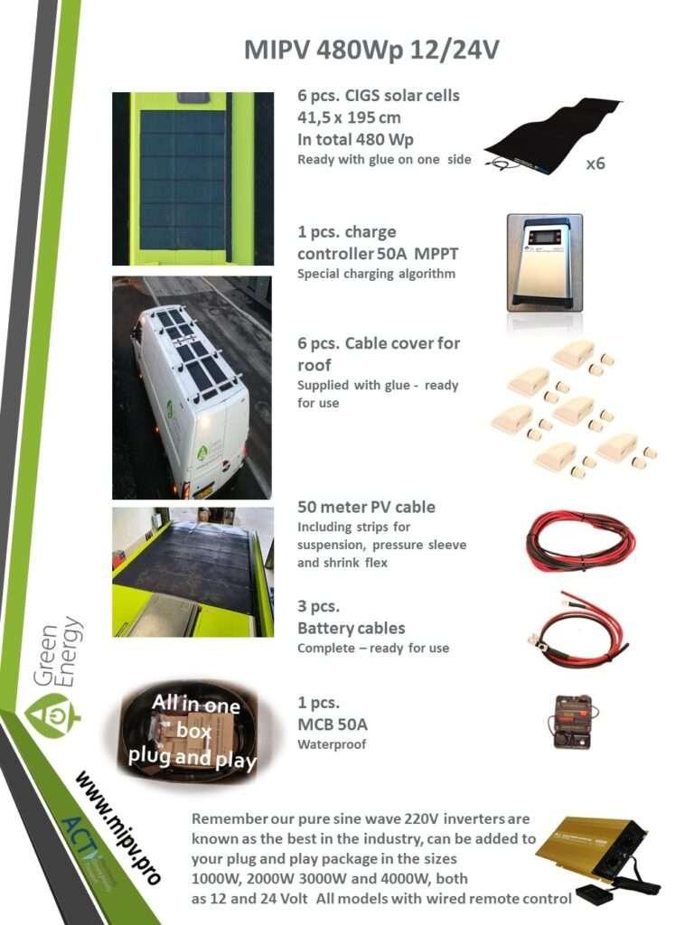mipv sets - 480WP 12/24V