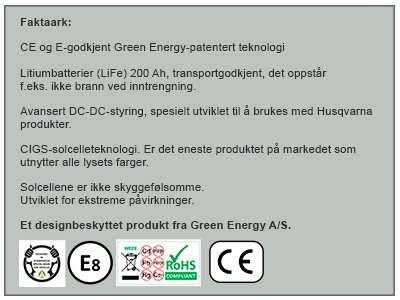 solcelleprodukt fra Green Energy